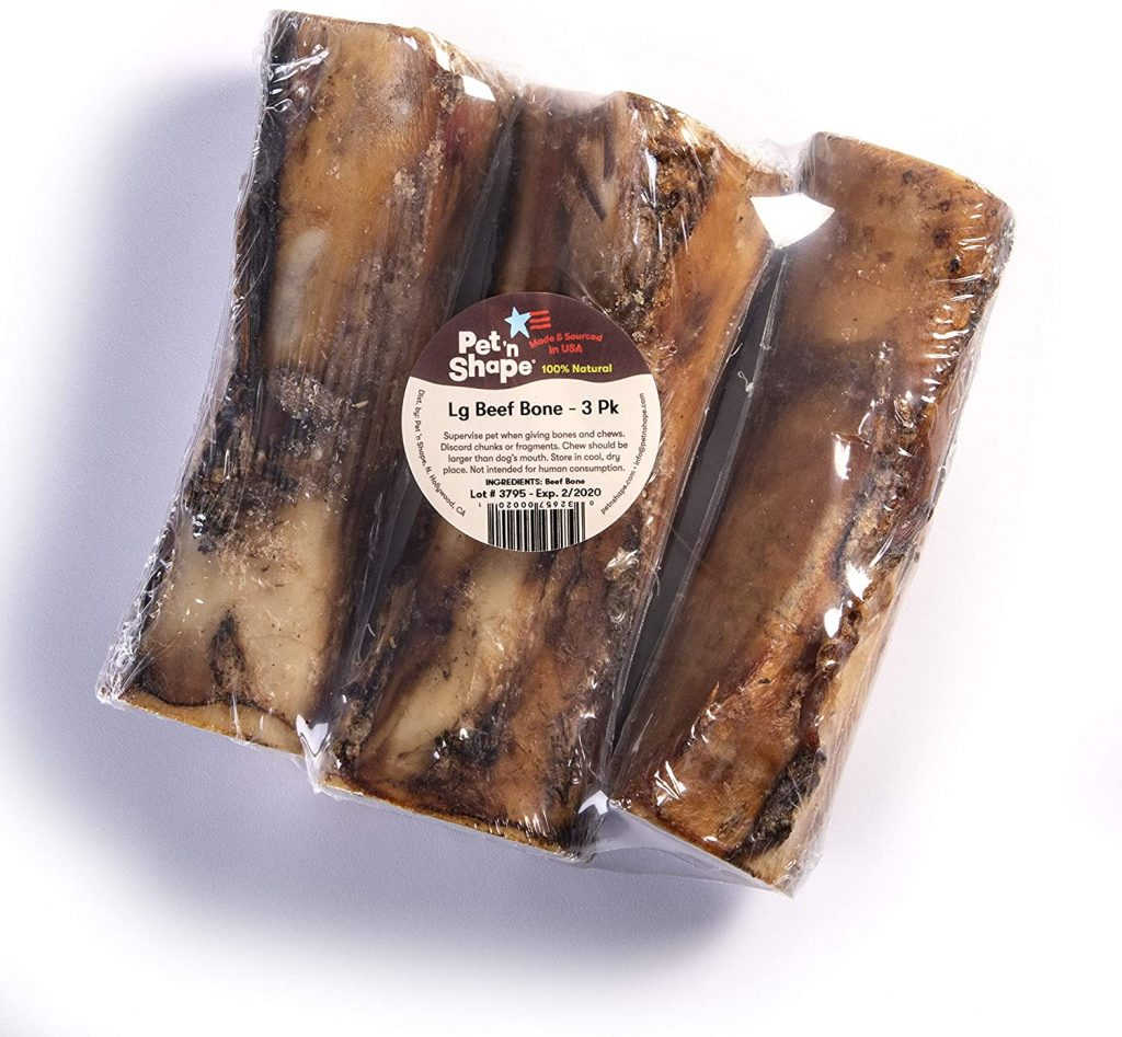 Pet 'n Shape - Made in USA - Beef Bone Natural Dog Treat -  best dog bones for goldendoodles - TheDoodleguide.com
