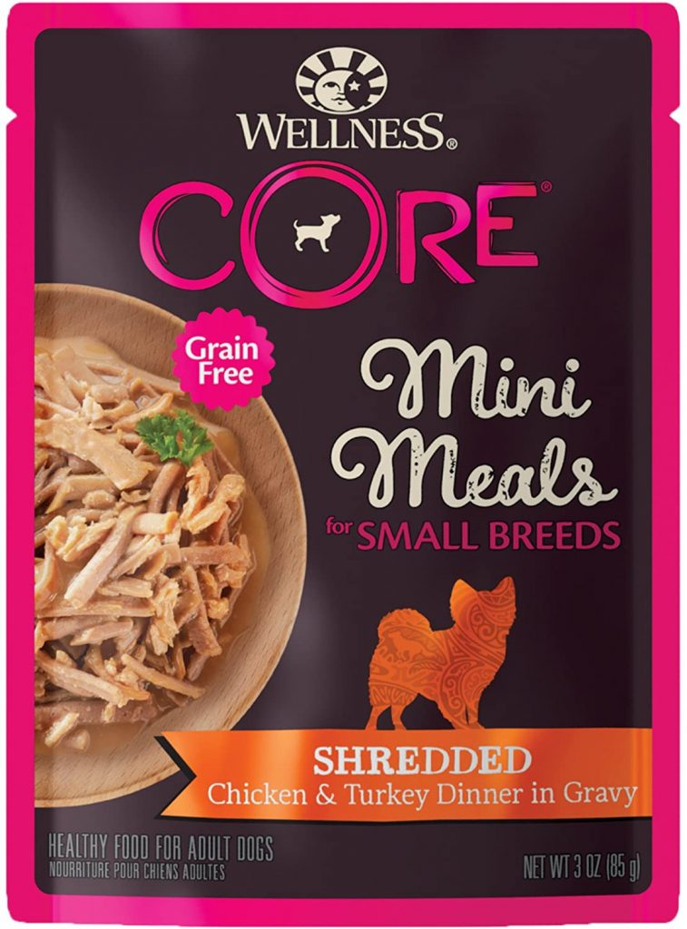 Wellness CORE Natural Grain-Free Wet Dog Food, 3-Ounce Pouch