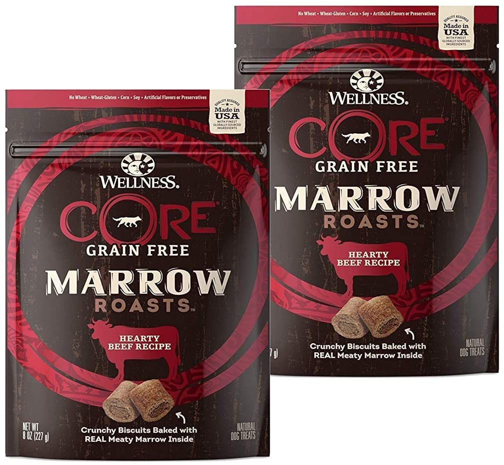 Wellness Core Marrow Roasts Natural Grain Free Dog Treats - best treats for goldendoodles - TheDoodleGuide.com