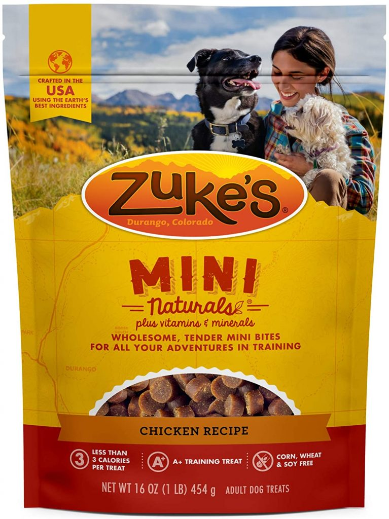 Zuke's Mini Naturals Dog Treats - best treats for goldendoodles - TheDoodleGuide.com