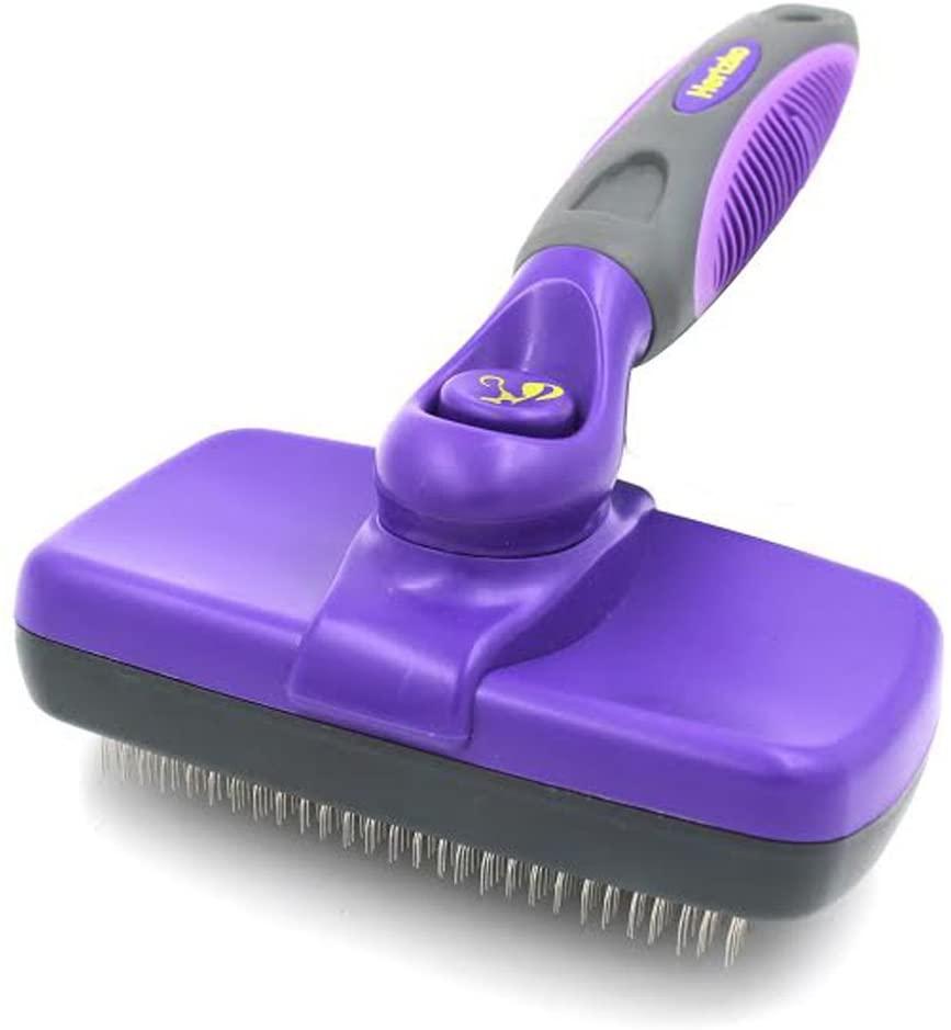 Hertzko Self-cleaning slicker brush - thedoodleguide.com